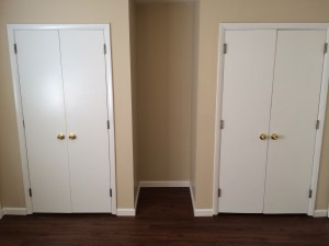 Two bedroom closets Apt 15